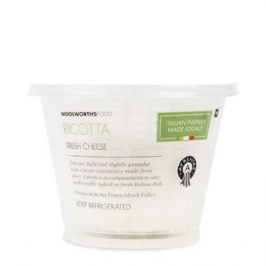 AYRSHIRE RICOTTA CHEESE - <a href='http://www.woolworths.co.za/store/prod/Food/Food/Dairy-Eggs-Milk/Cheese/Fresh-Cheese/Fresh-Ricotta-Cheese-Avg-250g/_/A-2027140000002' target='_blank'>BUY NOW</a>