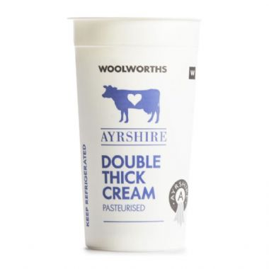 250ML AYRSHIRE DOUBLE THICK CREAM - <a href='http://www.woolworths.co.za/store/prod/Food/Food/Dairy-Eggs-Milk/Cream/Fresh-Cream/Ayrshire-Double-Thick-Cream-250ml/_/A-20067090' target='_blank'>BUY NOW</a>