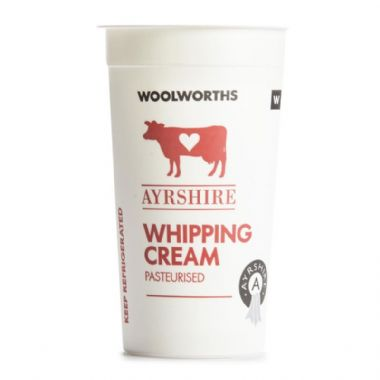 250ML AYRSHIRE WHIPPING CREAM - <a href='http://www.woolworths.co.za/store/prod/Food/Food/Dairy-Eggs-Milk/Cream/Fresh-Cream/Ayrshire-Whipping-Cream-250ml/_/A-20077983' target='_blank'>BUY NOW</a>
