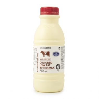 500ML AYRSHIRE CULTURED LOW FAT BUTTERMILK - <a href='http://www.woolworths.co.za/store/prod/Food/Food/Dairy-Eggs-Milk/Milk/Buttermilk-Maas/Ayrshire-Cultured-Low-Fat-Buttermilk-500ml/_/A-6009195203504' target='_blank'>BUY NOW</a>