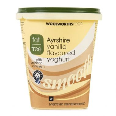 1KG FAT FREE AYRSHIRE YOGURT - VANILLA -