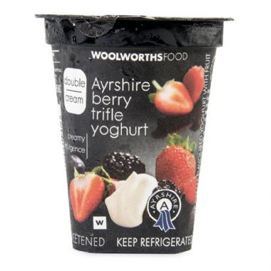 150G DOUBLE CREAM AYRSHIRE YOGURT - <a href='http://www.woolworths.co.za/store/prod/Food/Food/Dairy-Eggs-Milk/Yoghurt/Double-Cream-Yoghurt/Double-Cream-Berry-Trifle-Yoghurt-150g/_/A-6009101430857' target='_blank'>BUY NOW</a>