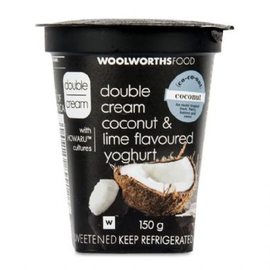 150G DOUBLE CREAM AYRSHIRE YOGURT - <a href='http://www.woolworths.co.za/store/prod/Food/Food/Dairy-Eggs-Milk/Yoghurt/Double-Cream-Yoghurt/Double-Cream-Coconut-Lime-Flavoured-Yoghurt-150g/_/A-6009189899126' target='_blank'>BUY NOW</a>