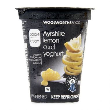 150G DOUBLE CREAM AYRSHIRE YOGURT - <a href='http://www.woolworths.co.za/store/prod/Food/Food/Dairy-Eggs-Milk/Yoghurt/Double-Cream-Yoghurt/Double-Cream-Lemon-Curd-Yoghurt-150g/_/A-6001009039804' target='_blank'>BUY NOW</a>
